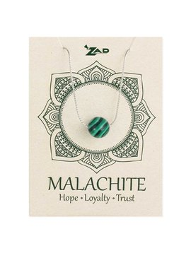 Gypsy Chic Malachite Bead Silver Necklace
