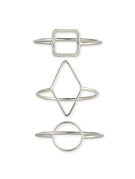 Zad Silver Plated Circle Ring
