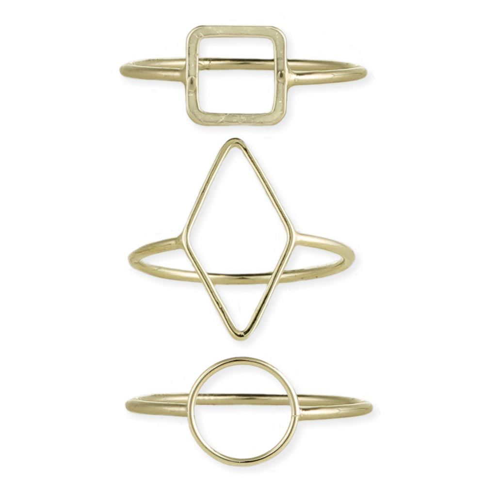 Gypsy Chic Gold Plated Triangle Ring
