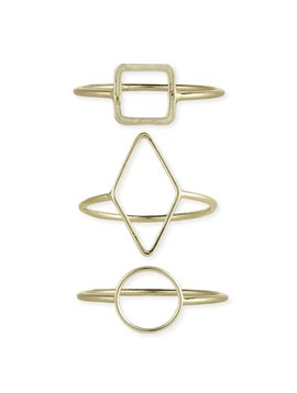 Gypsy Chic Gold Square Ring