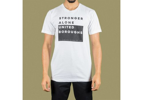 United Boroughs TEE UBNY Stronger Alone white
