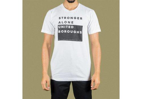 United Boroughs TEE UBNY Stronger_Alone white