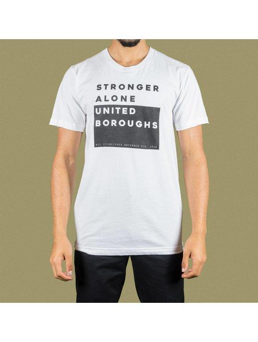 United Boroughs TEE UBNY Stronger Alone white