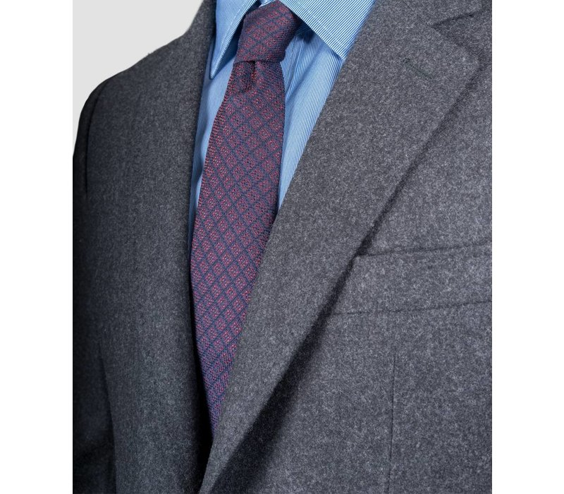 TIE navy w/red squares
