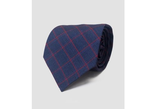 Seize sur Vingt TIE large navy/red plaid