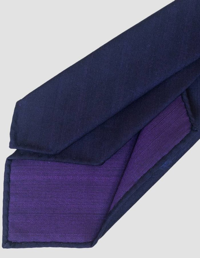 Seize sur Vingt TIE dark purple herringbone
