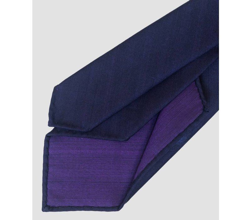 TIE dark purple herringbone