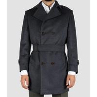Overcoat 100% Cashmere Charcoal Handmade
