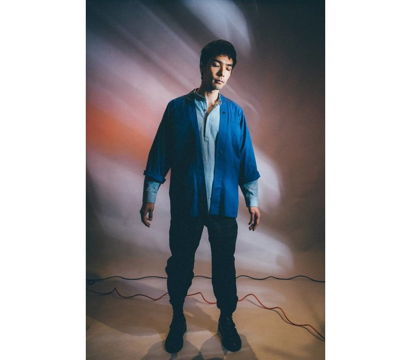 Kimono Overshirt Blue Cotton