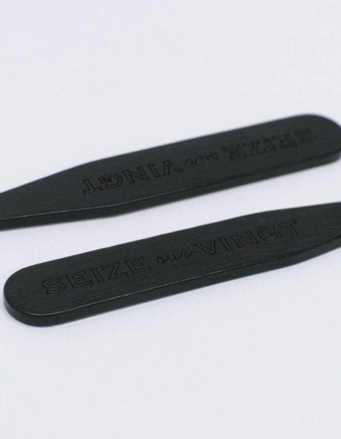 ACC Collar Stays Ebony (pair)