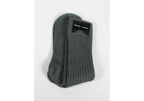 Seize sur Vingt ACC Olive Wool Blend Sock