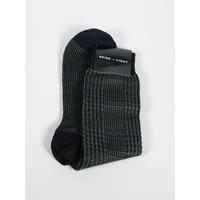 ACC Olive Houdstooth Wool Blend Sock