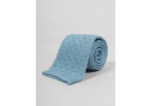 Seize sur Vingt Blue with Blue Dot Knit Tie