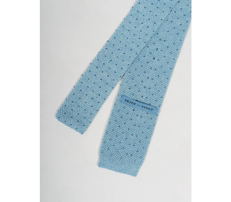 Blue with Blue Dot Knit Tie