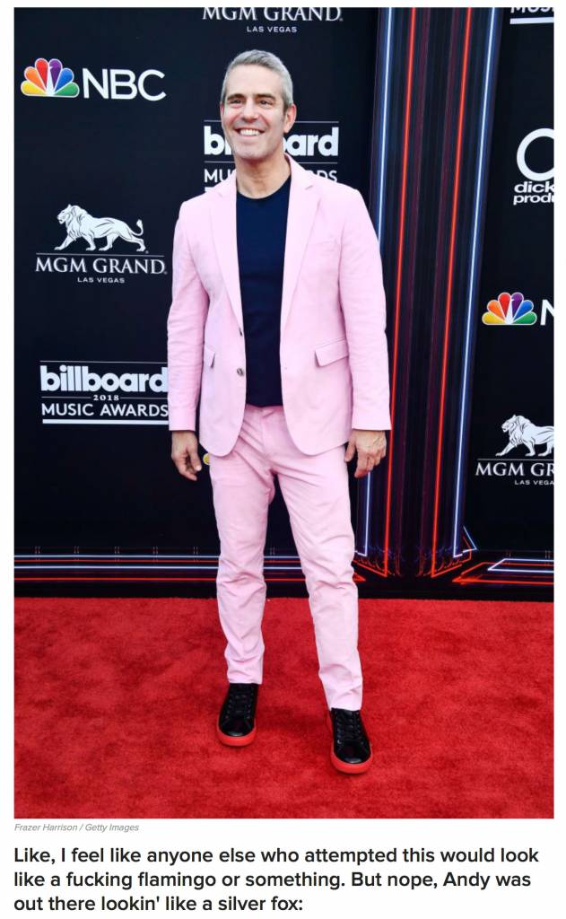 BUZZFEED: Andy Cohen at the Billboard Music Awards