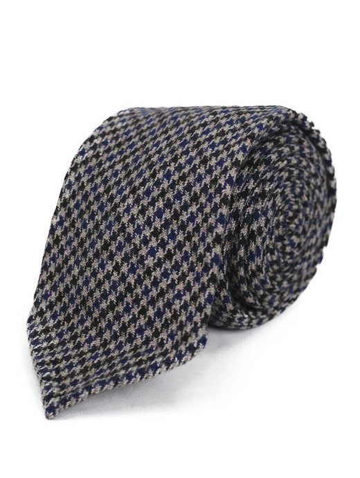 Seize sur Vingt TIE small brown/ blue houndstooth