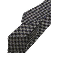 TIE small brown/ blue houndstooth