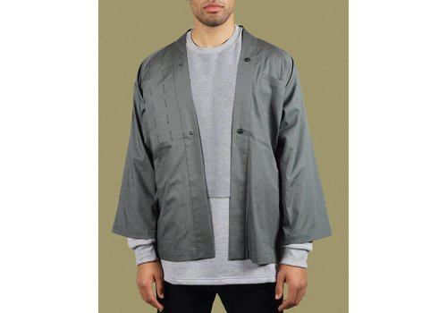 United Boroughs Kimono Overshirt Olive Cotton