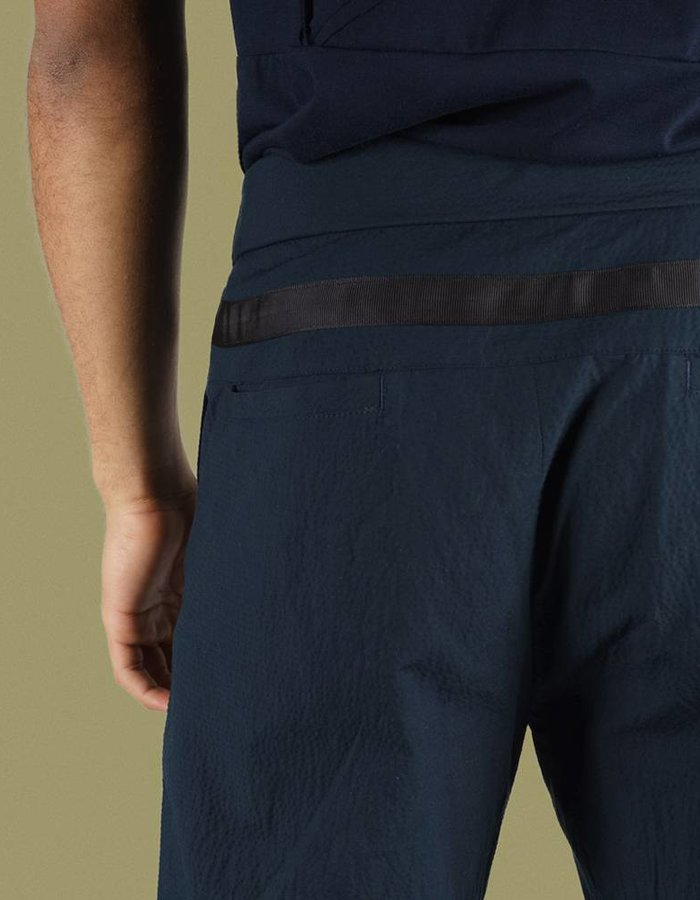 United Boroughs Masaru pant navy seersucker