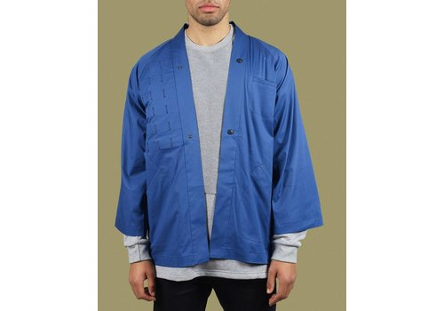 United Boroughs Kimono Overshirt Blue Cotton