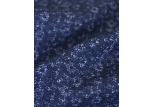 ZCP Hill Faint floral washed out print on navy