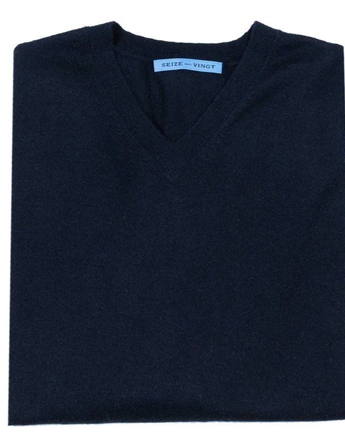 Seize sur Vingt Light Weight Cashmere Sweater - Grey