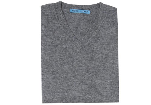 Seize sur Vingt Summer Weight Cashmere Sweater - Grey