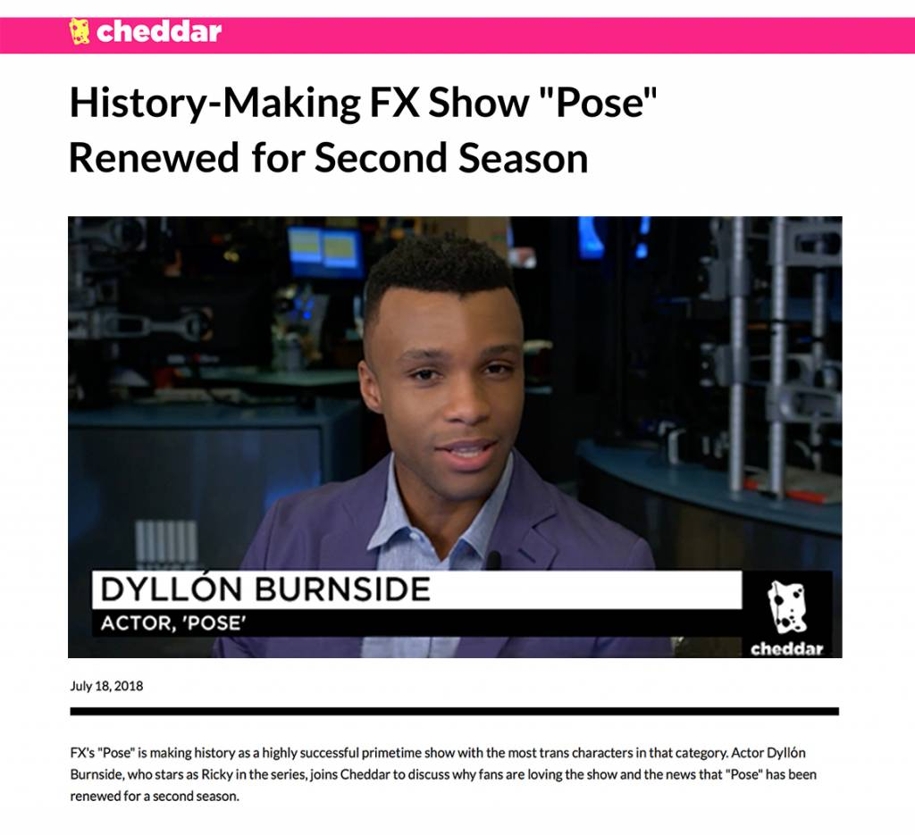 Dyllόn Burnside from FX's Pose talks with Cheddar