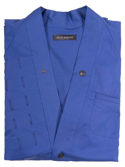 United Boroughs Kimono Overshirt Blue
