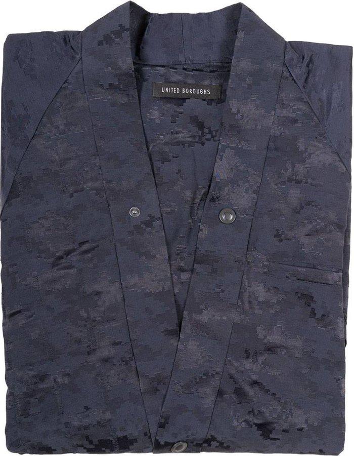 United Boroughs Kimono Jacket navy camo