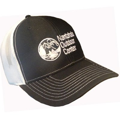 Mesh Back/Twill Front Throwback Logo Hat Navy