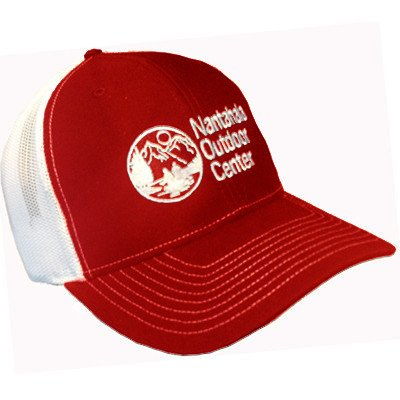 Mesh Back/Twill Front Throwback Logo Hat Red