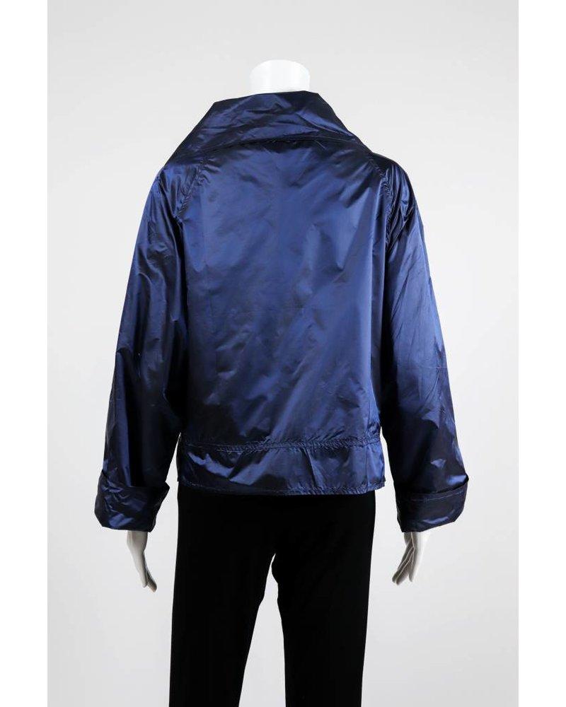 Alembika Button Front Cowl Neck Jacket