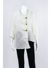 Luukaa Woven Asymmetrical Button Down Jacket