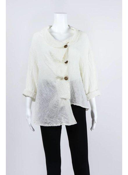 Luukaa Woven Asymmetrical Button Down Jacket