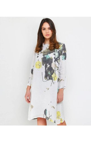 Grizas Long Sleeve Washed Linen Dress