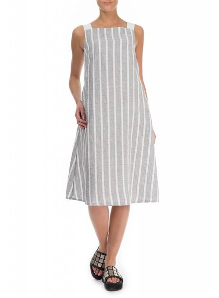 Grizas Washed Linen Sleeveless Stripe Dress