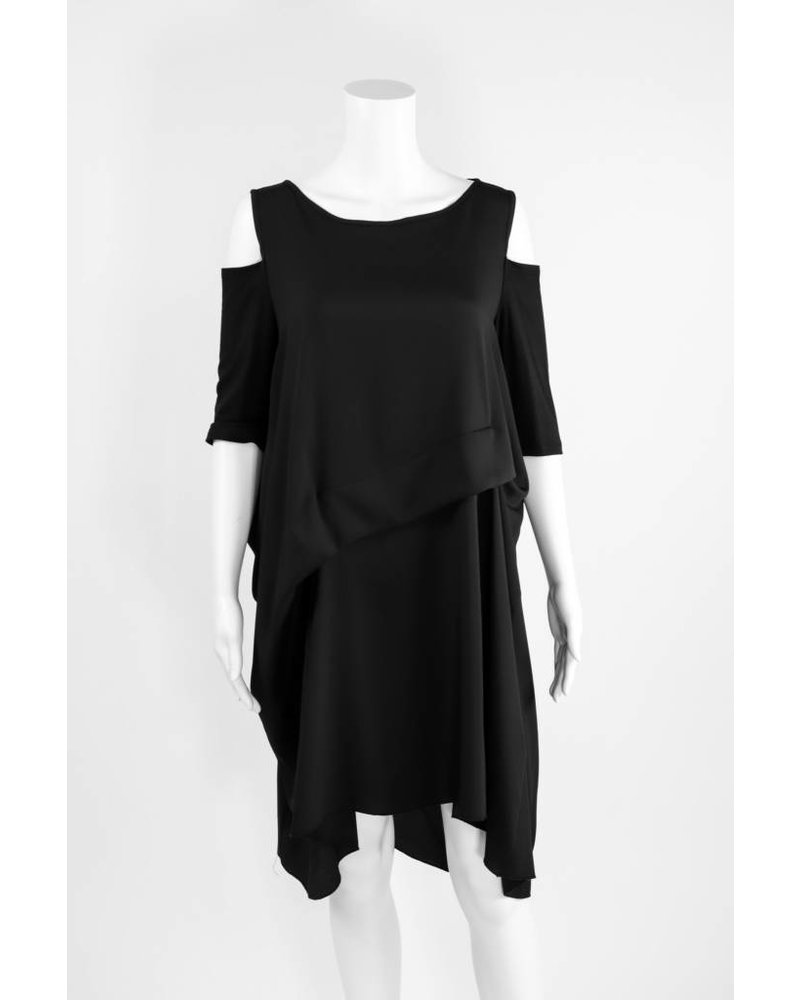 Comfy USA Cold Shoulder Dress