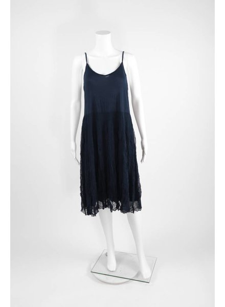 Comfy USA Slip Dress With Crinkle Skirt