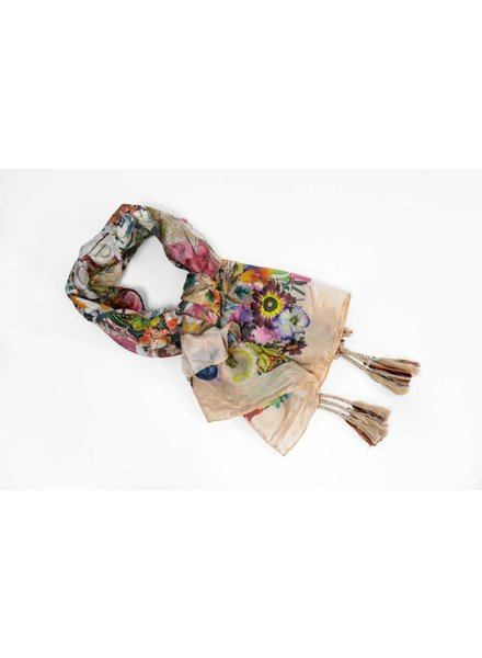 Johnny Was Butterfly Print Scarf
