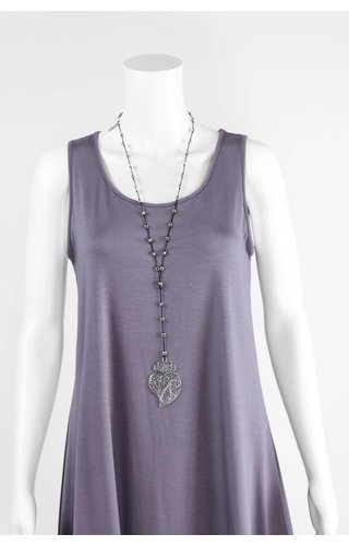 Lost River Black String Paisley Necklace