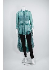 Byron Lars Beauty Mark Waterfall Lace Blouse