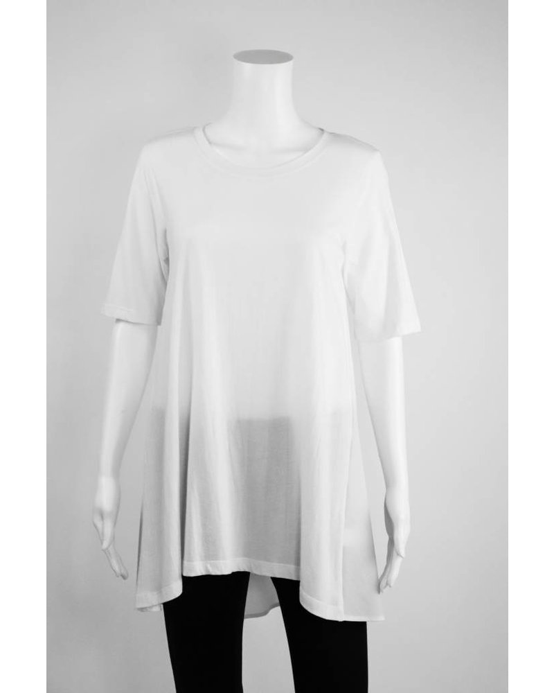 Comfy USA Knit Front Woven Back Tunic