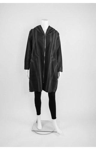 Comfy USA Sun Kim Striped Zipper Jacket