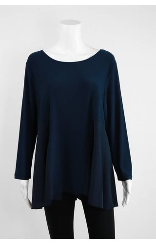 Comfy USA Sun Kim Knit/Crepe Tunic
