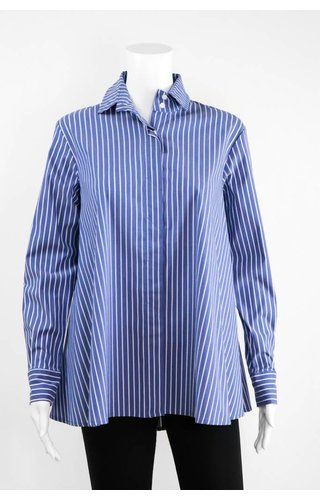 Comfy USA Pinstripe Zipper Back Shirt