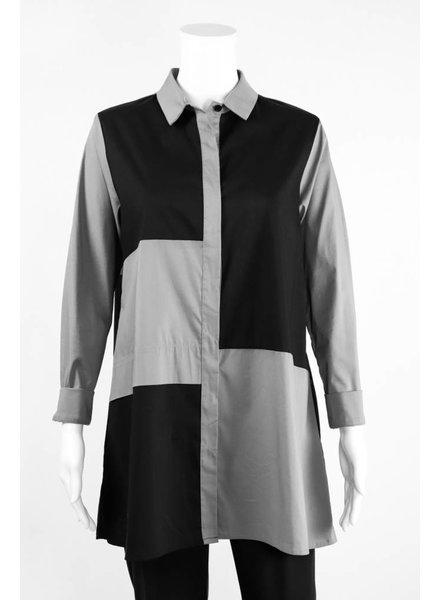 Comfy USA Colorblock Tunic Blouse