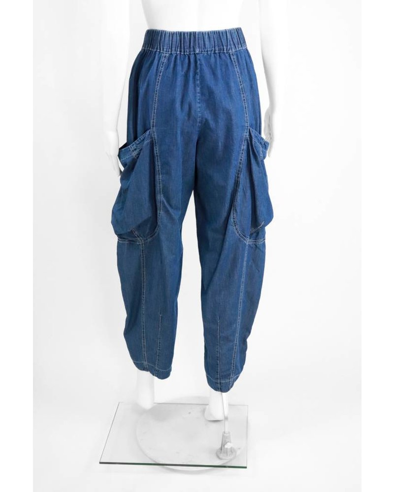 Alembika Full Crop Pant With Patch Pocket