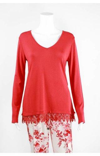 Lauren Vidal Knit V Neck Sweater