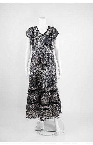 Lauren Vidal Ruffle Long Dress